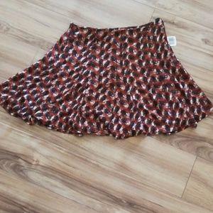 Rust orange skater skirt